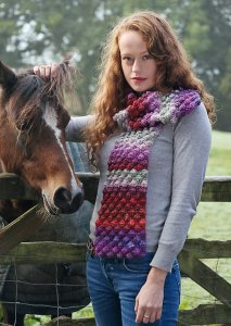 Noro Silk Garden Bobble Scarf Kit - Crochet for Adults
