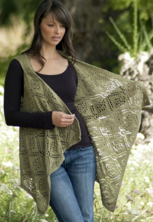 Cascade Yarns Ultra Pima Rose Trellis Shawl Vest Kit - Women's Sleeveless