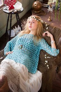 Cascade Heritage Silk Boatneck Pullover Kit - Crochet for Adults