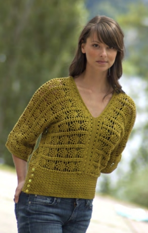 Cascade Yarns Ultra Pima Crocheted Pineapple Top Kit - Crochet for Adults
