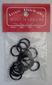 Bryson Distributing Ring Markers - Small Assorted Black