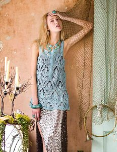 Jade Sapphire Sylph Tunic Length Tank Top Kit - Crochet for Adults