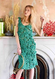 Koigu KPM Tank Dress Kit - Crochet for Adults