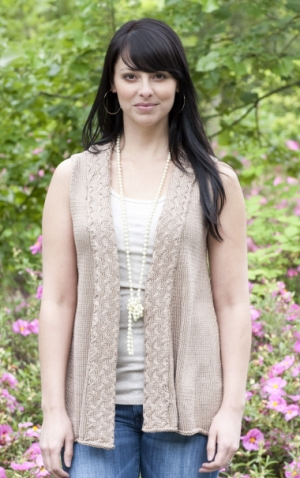 Cascade Yarns Ultra Pima Amalfi Shawl Vest Kit - Women's Sleeveless