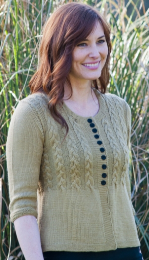 Cascade Yarns Venezia Sport Cable Cardigan Kit - Women's Cardigans