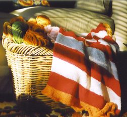 Mac & Me Patterns - 055 Striped Baby Blanket Pattern
