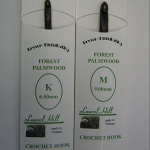 Bryspun Palmwood Crochet Hook Needles - US I Needles
