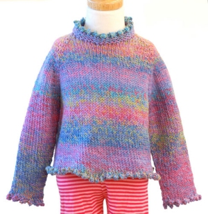 Hikoo Simpliworsted Marl Kittenish Girl's Sweater Kit - Baby and Kids Pullovers