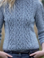 Rowan Revive Cabled Three Quarter Sleeve Sweater Kit