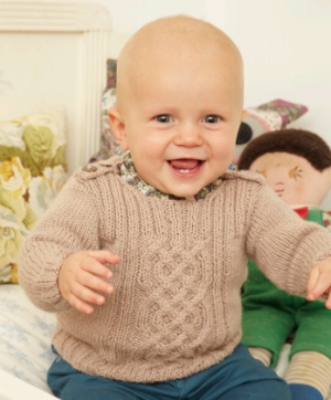 Rowan Baby Merino Silk Dk Jiminy (infant sizes) Kit - Baby and Kids Pullovers