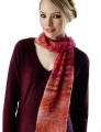 Rowan Kidsilk Haze Stripe/Fine Art Twisted Drop Stitch Scarf