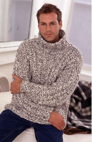 Rowan Big Wool Mans Rib Sweater Kit - Mens Sweaters