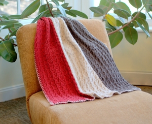Plymouth Yarn Homestead Vertical Stripe Throw and Afghan Kit - Home Accessories