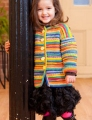 Plymouth Yarns Stella Jacq Child's Garter Ridge Cardigan Kit