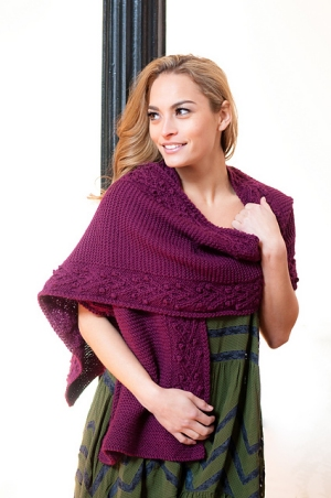 Plymouth Yarn Galway Worsted Women's Stole Kit - Scarf and Shawls