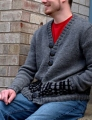 Plymouth Yarn Homestead Men's Fair Isle Cardigan