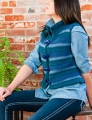 Plymouth Yarn Homestead 3 Color Striped Vest Kit