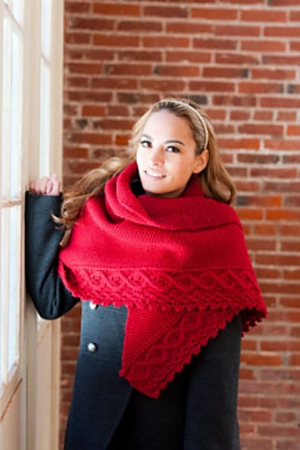 Plymouth Yarn Homestead Cable Shawl Kit - Scarf and Shawls