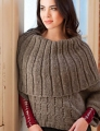 Plymouth Yarn Homestead Woman's Capelet Poncho