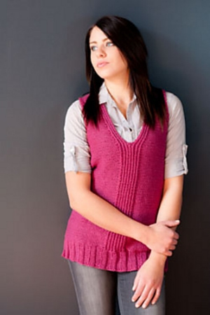 Plymouth Yarn Homestead Split Twisted Ribbing Long Vest Kit - Vests