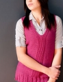 Plymouth Yarn Homestead Split Twisted Ribbing Long Vest Kit