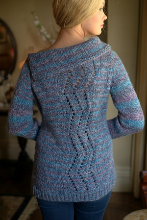 Plymouth Yarn Essex Top Down Pullover Kit - Women's Pullovers