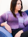 Plymouth Yarn Encore Worsted Colorspun Crochet Cropped Cardi Kit
