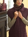 Plymouth Yarn Encore Worsted Zig-Zag Shawl Collar Vest Kit