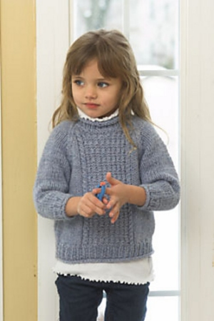 Plymouth Yarn Encore Chunky Child's Aran Sweater  Kit - Baby and Kids Pullovers