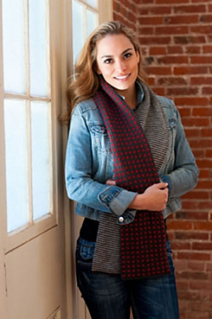 Plymouth Yarn Cashmere Passion Half and Half Tube Scarf Kit - Scarf and Shawls