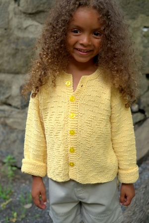 Plymouth Yarn Bamtastic Child's Cardigan Kit - Baby and Kids Cardigans