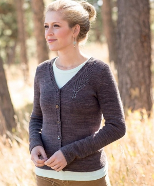 Swans Island Natural Colors Worsted Remington Cardigan Kit - Women's Cardigans