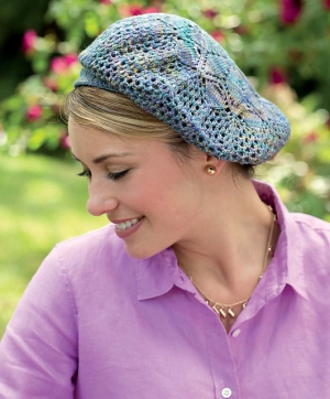 Malabrigo Sock Giverny Beret Kit - Hats and Gloves