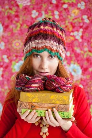 Noro Kirara Honeycomb Cable Hat Kit - Hats and Gloves