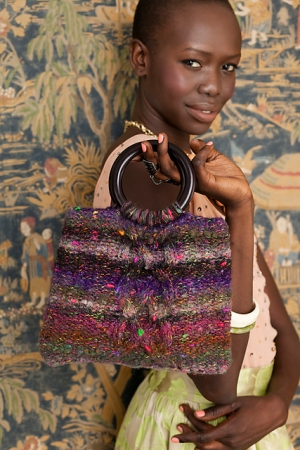 Noro Mossa Cabled Handbag Kit - Women's Accessories