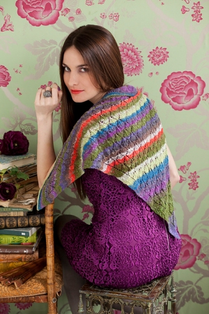 Noro Taiyo Lace Collared Lace Shawl Kit - Scarf and Shawls