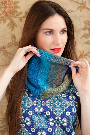 Noro Silk Garden Intarsia Cowl Kit - Scarf and Shawls