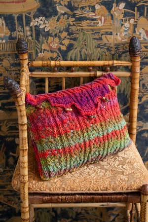 Noro Kureyon Lace Pillow Sham Kit - Crochet for Home