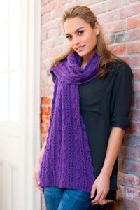 Plymouth Cashmere Passion Bell Lace Stole or Scarf Kit - Scarf and Shawls