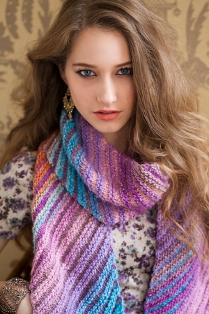 Noro Silk Garden Bias-Knit Scarf Kit - Scarf and Shawls