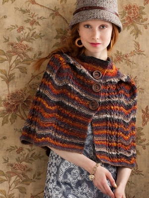 Noro Silk Garden Sock Chevron Cape Kit - Women's Accessories