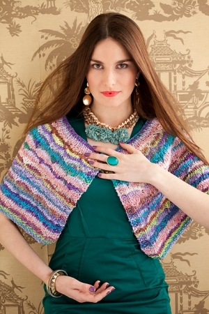 Noro Koromo Daisy Stitch Capelet Kit - Scarf and Shawls