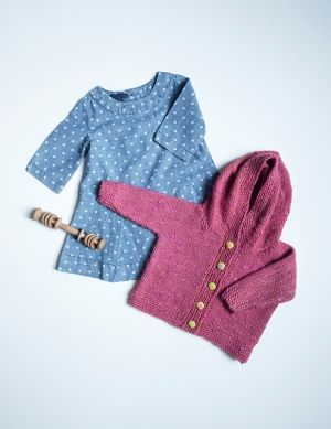 The Fibre Company Terra Cecile Cardigan Kit - Baby and Kids Cardigans