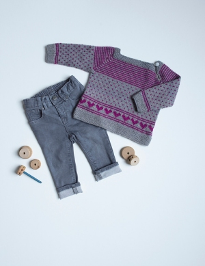 The Fibre Company Road to China Light Colette Pullover Kit - Baby and Kids Pullovers