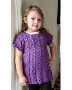 Plymouth Yarn Baby & Children Patterns - 2854 Girl's Dress Pattern