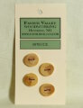 Favour Valley Woodworking Wood Buttons - Spruce - Small (4 button card)