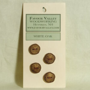 Favour Valley Woodworking Wood Buttons - White Oak - Small (4 button card)