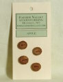 Favour Valley Woodworking Wood Buttons - Apple - Small (4 button card)