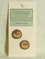 Favour Valley Woodworking Wood Buttons - White Oak - Medium (2 button card)