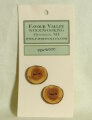 Favour Valley Woodworking Wood Buttons - Yew Wood - Medium (2 button card)